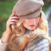 woven hat with beige thread