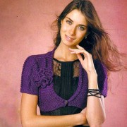 Purple Bolero with flower