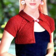 small Bolero knitting