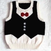 vest with bow tie