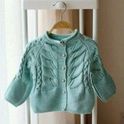 Girls jacket with front pattern