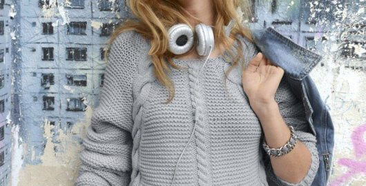 Sweater gris moderno
