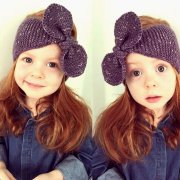 Headband knitted bow