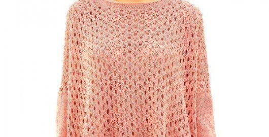 Boho hemstitch sweater