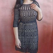 Crocheted tunic dress